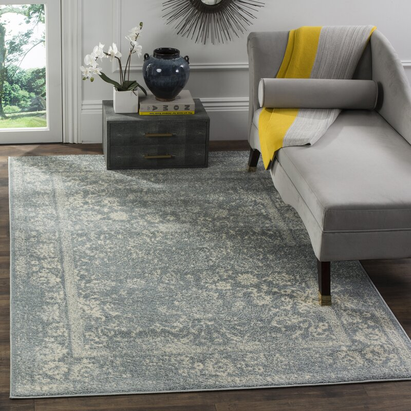 Issa Slate Ivory Area Rug Amp Reviews Birch Lane