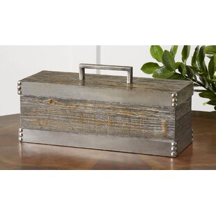 Gray Decorative Box With Lid
