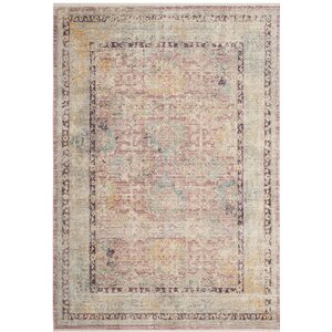 Soren Rose/Light Gray Area Rug