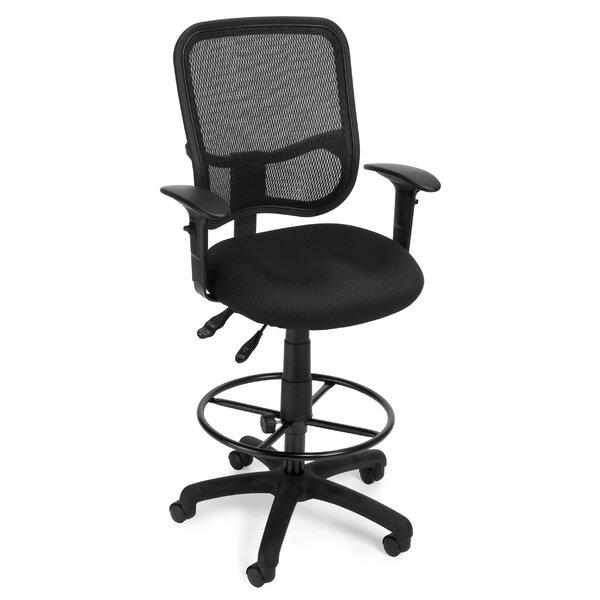 OFM Ergonomic Mid Back Mesh Drafting Chair U0026 Reviews | Wayfair