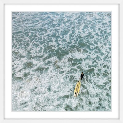 Marmont Hill 'Choppy Waters' Framed Photographic Print Size: 48 H x 48 W, Format: White Framed with Matte