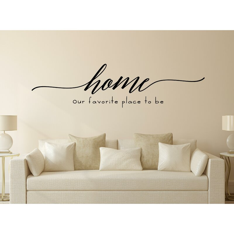 enchantingly elegant home our favorite place to be vinyl wall decal