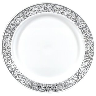 Premium Reusable Heavyweight Plastic Dinner Plate (Set of 288)  sc 1 st  Wayfair & Gourmet Home Products Disposable Plates \u0026 Bowls You\u0027ll Love | Wayfair