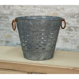 large galvanized metal buckets wayfair