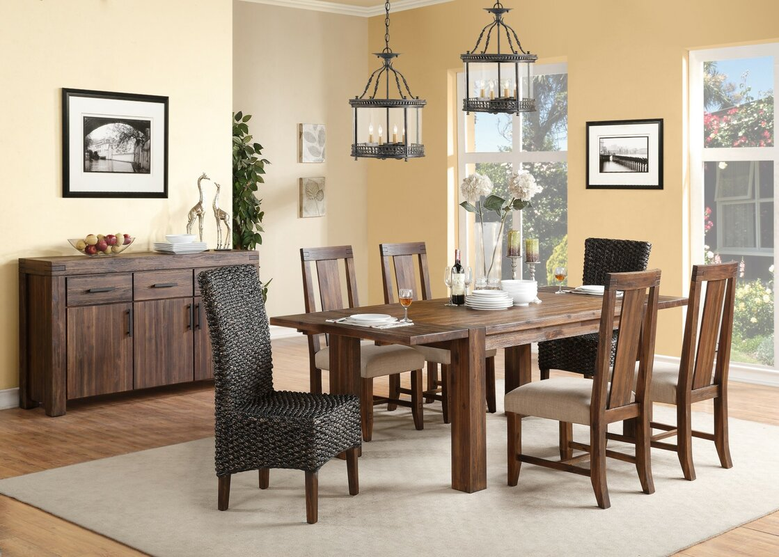 Extendable Dining Room Table Loon Peak Gibson Extendable Dining Table & Reviews  Wayfair