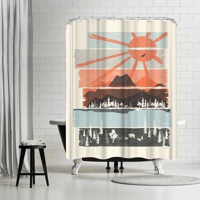 NDTank Morning By Bear River Shower Curtain