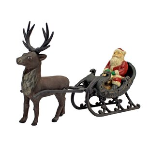 santa sleigh and reindeer wayfair