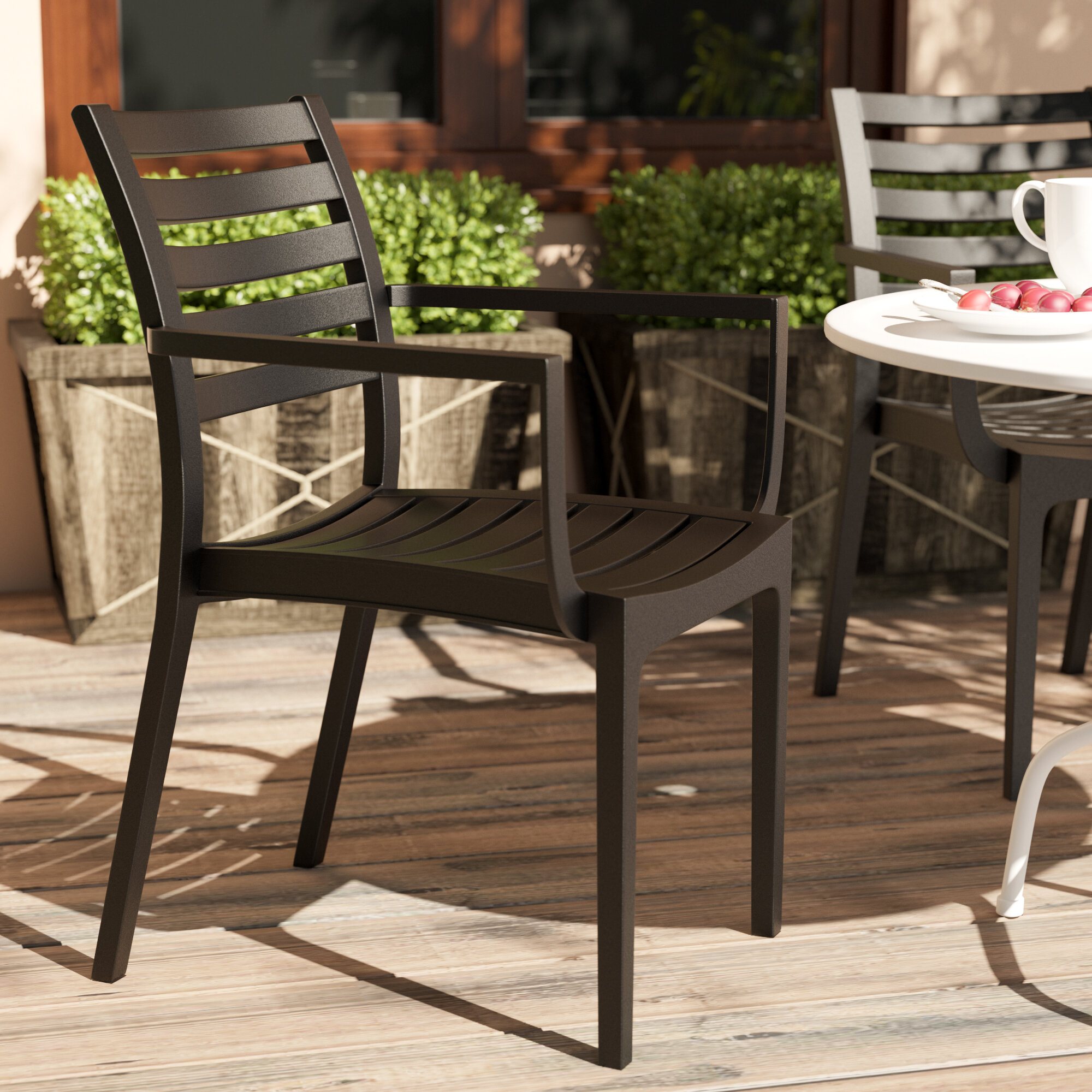 Mercury Row Nikoleta Stacking Patio Dining Chair & Reviews