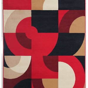 Euan Red Area Rug