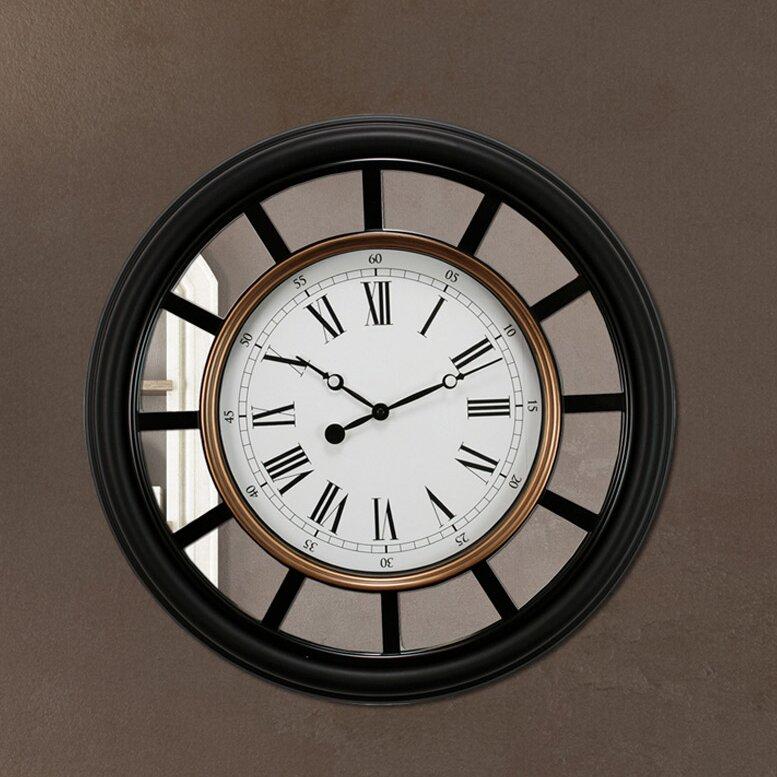 vintage 22 mirrored wall clock - Mirrored Wall Clock