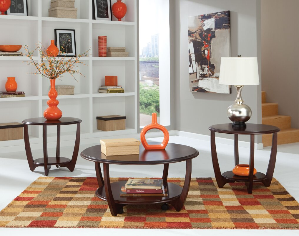 three piece living room table set. Ophelia 3 Piece Coffee Table Set Wade Logan  Reviews Wayfair