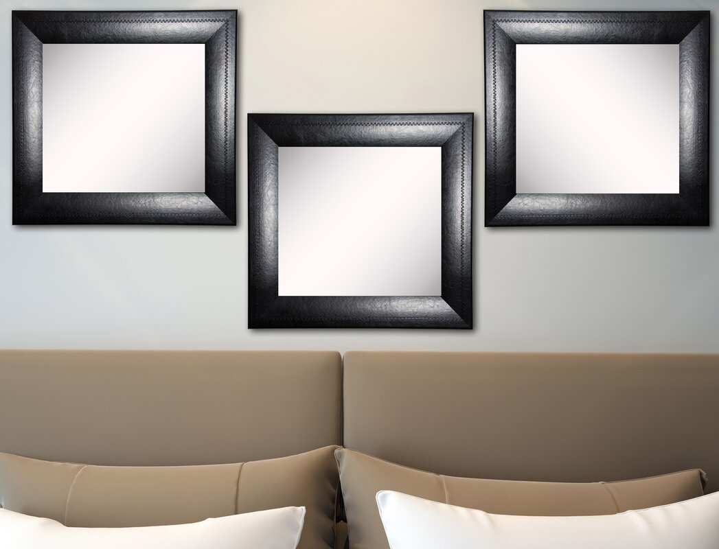 Rayne mirrors ava stitched black leather wall mirror reviews ava stitched black leather wall mirror amipublicfo Gallery