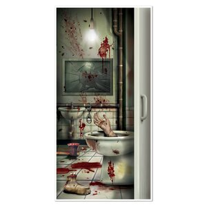 Creepy Crapper Restroom Door Cover