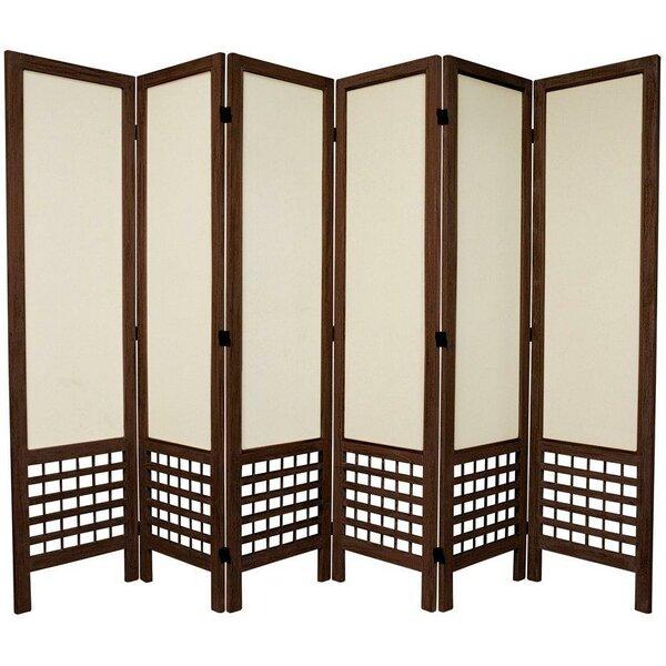 Highland 67 Tall Open Lattice Fabric 6 Panel Room Divider Reviews Joss Main