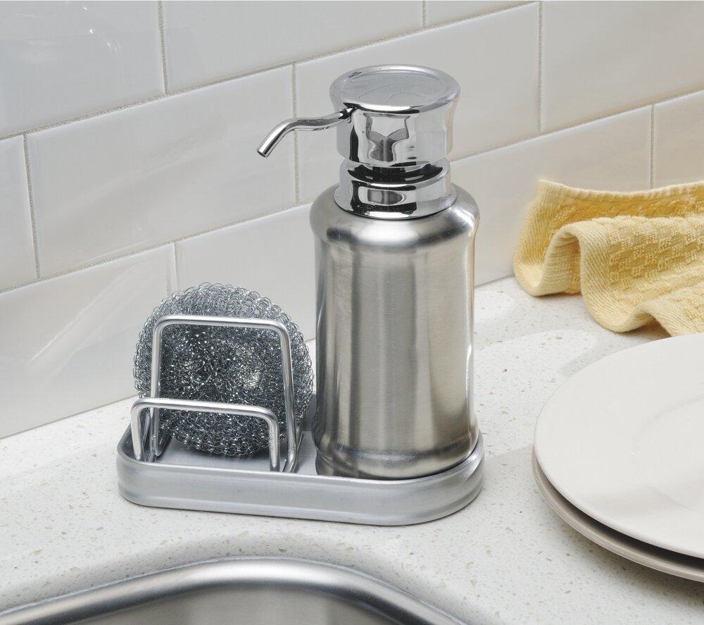 InterDesign York Ergo Soap Dispenser and Sponge Caddy & Reviews ...