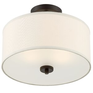 Salmons 2-Light Semi Flush Mount