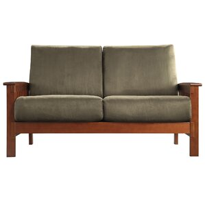 Winnifred Mission Loveseat with Cushions by Three Posts