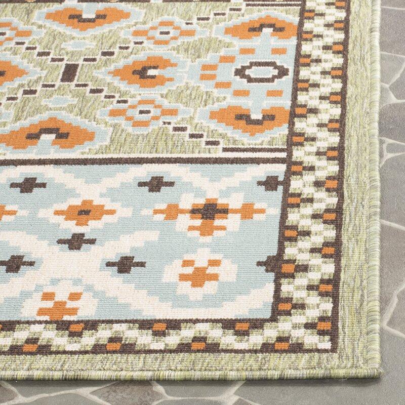 Serrano Green/Orange Area Rug & Reviews