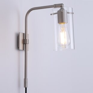 Bernina 1 Light Plug In Armed Sconce
