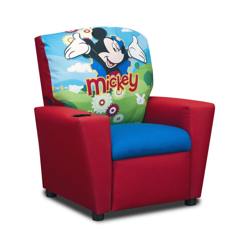 kidzworld disney s mickey mouse clubhouse kids cotton recliner chair