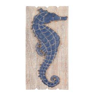 Navy Seahorse Wall Décor  sc 1 st  Wayfair & Seahorse Decor | Wayfair
