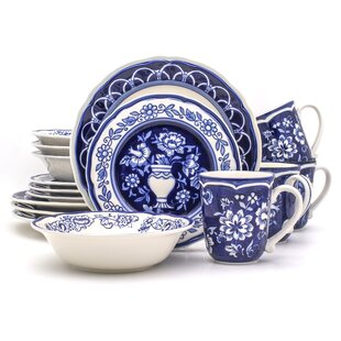 Embree 16 Piece Dinnerware Set, Service For 4 (Set Of 16)