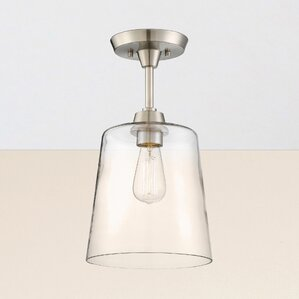 claybourne semiflush mount - Semi Flush Mount Lighting