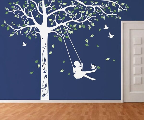 Pop Decors Tree With Swing Girl Wall Decal U0026 Reviews | Wayfair Part 75