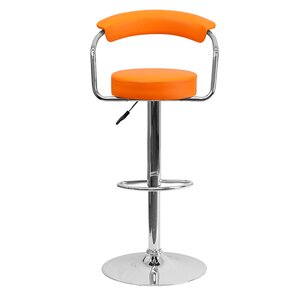 Uma Adjustable Height Swivel Bar Stool by Orren Ellis