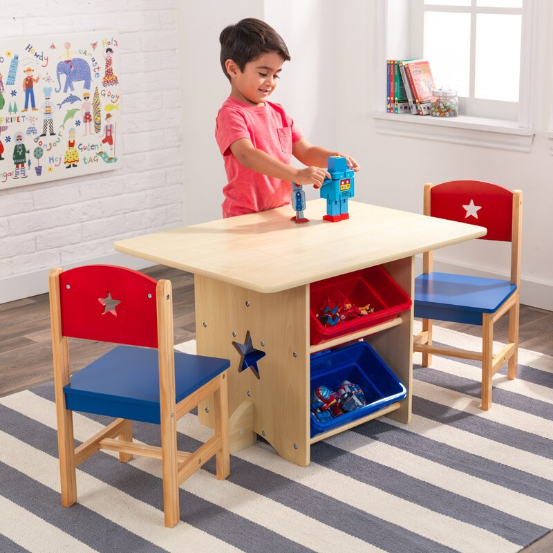 kidkraft star kids 5 piece table and chair set reviews wayfair. Black Bedroom Furniture Sets. Home Design Ideas