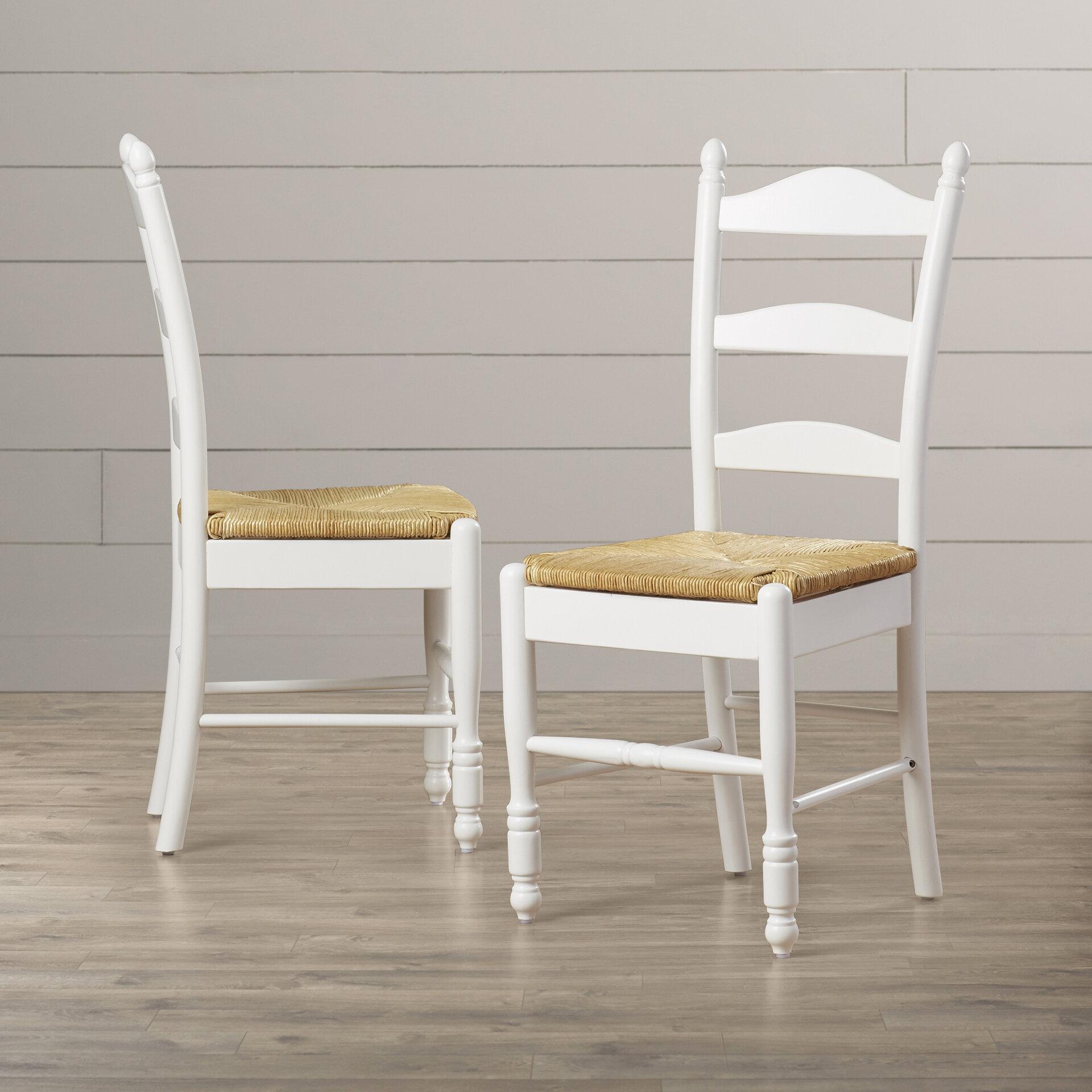 Genial Lark Manor Gennevilliers Ladder Back Solid Wood Dining Chair U0026 Reviews |  Wayfair