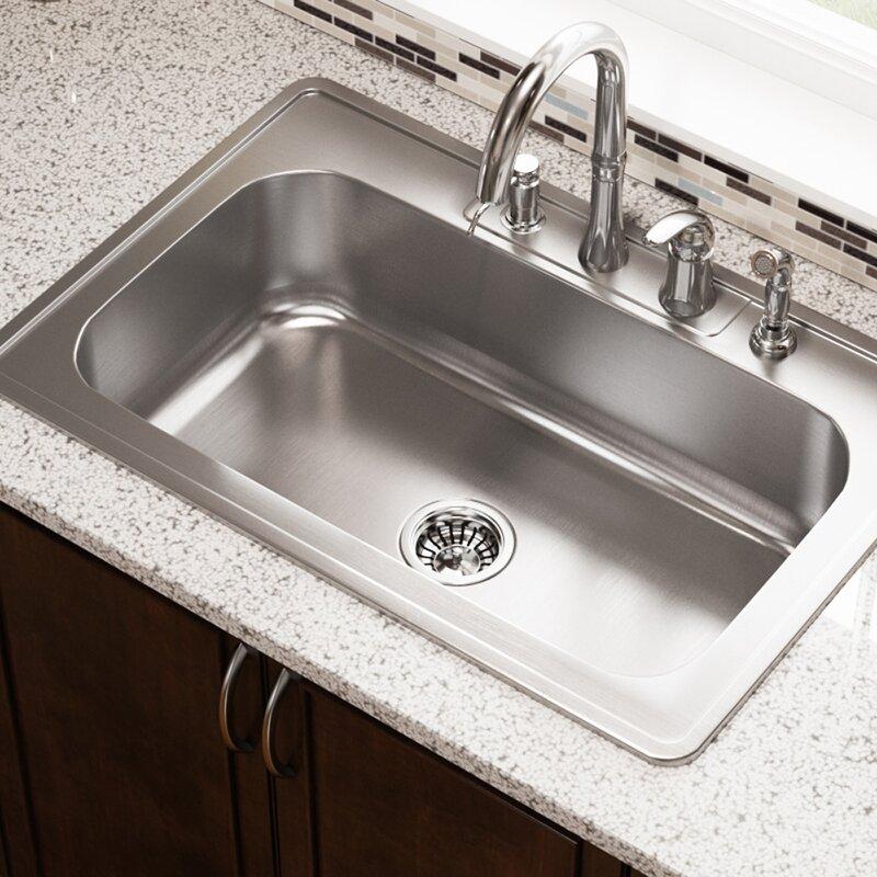 drop in kitchen sink kraus stainless steel 32 mrdirect