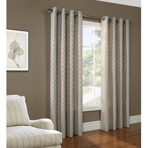 Weldon Geometric Room Darkening Grommet Single Curtain Panel