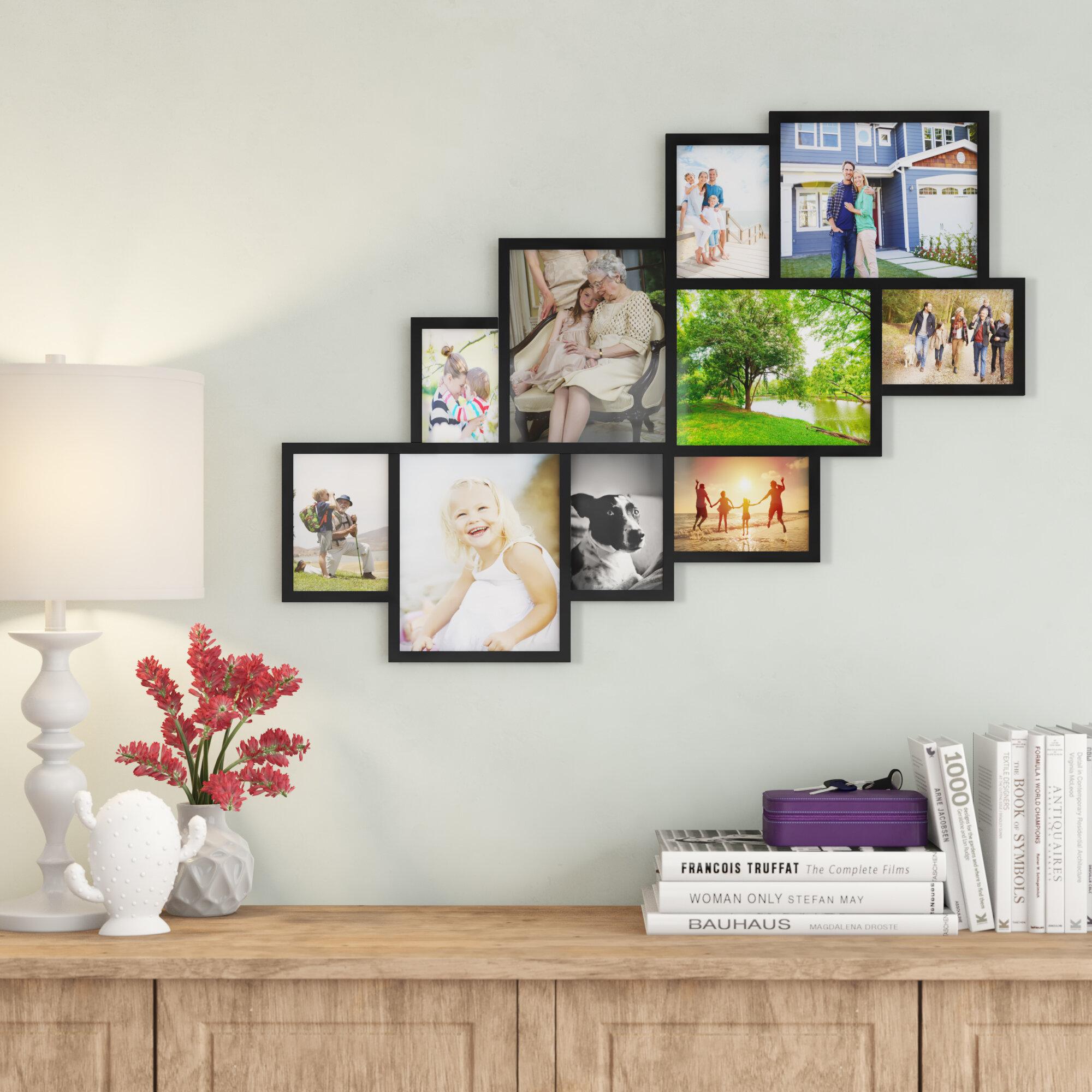 Barcenas 10 Opening Wood Photo Collage Wall Hanging Picture Frame Reviews Birch Lane