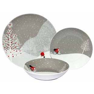 Santa Comes Home 36 Piece Dinnerware Set Service for 12 (Set of 12)  sc 1 st  Wayfair & Speckled Dinnerware | Wayfair