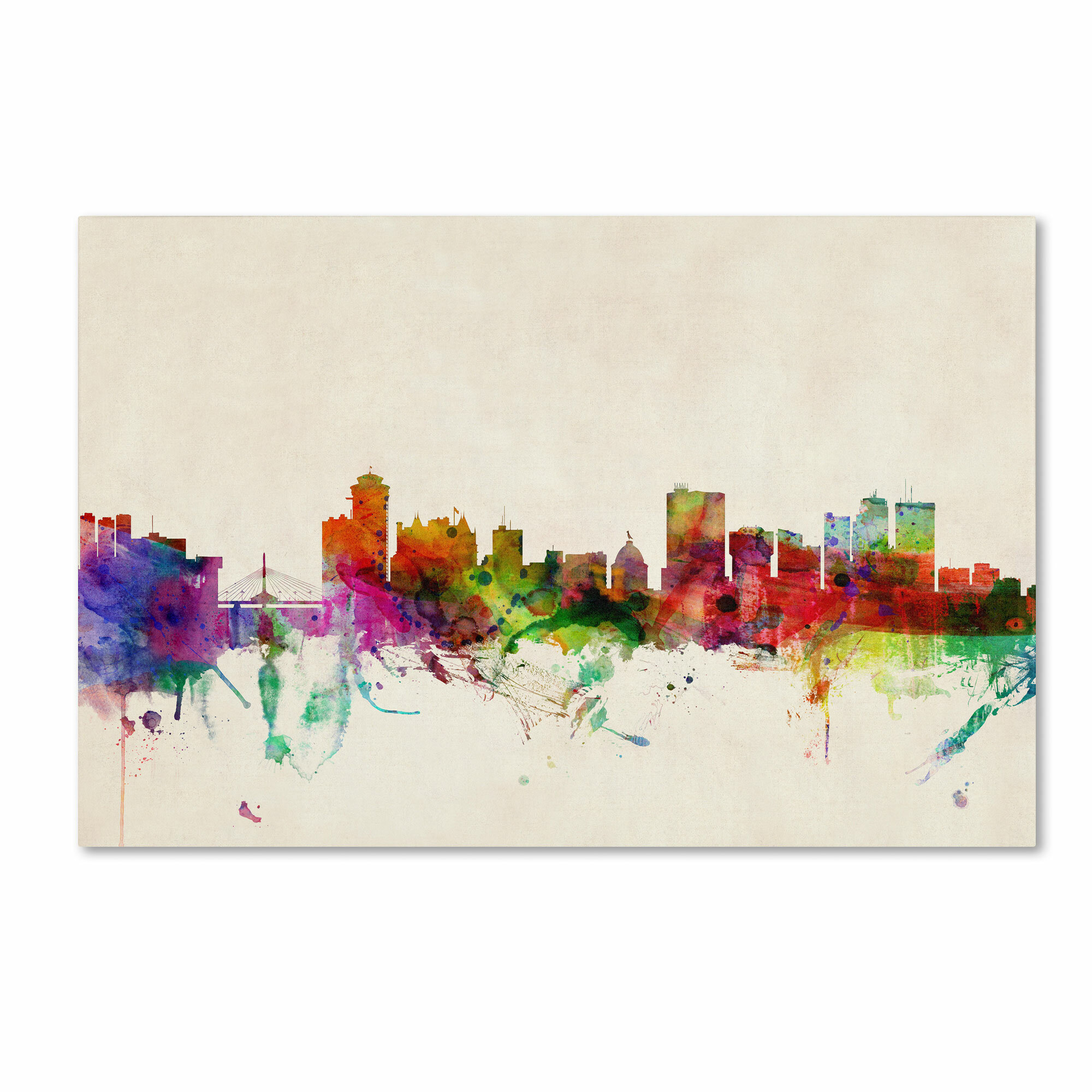Trademark art winnipeg canada by michael tompsett painting print on wrapped canvas wayfair ca