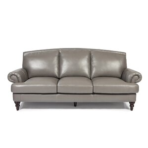 Ewing Leather Sofa by Red Barrel Studio