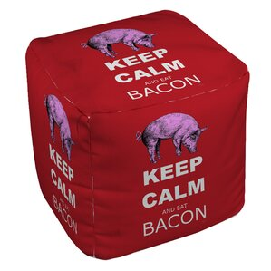 Keep Calm and Eat Bacon Ottoman by Manual Woodworkers & Weavers