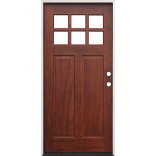 Shaker Craftsman 6 Lite Ready To Install Wood Prehung Front Entry Door