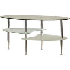 Allemans Glass Oval Coffee Table