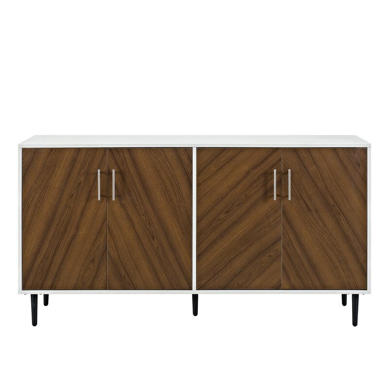 Charmant Daigneault Modern Bookmatch Buffet Table
