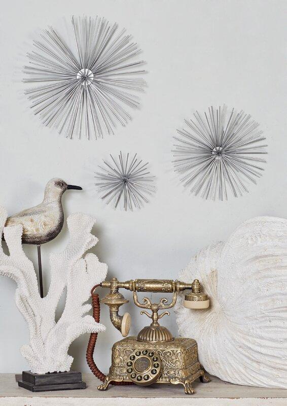 langley street 3 piece star metal wall decor set reviews wayfair. Black Bedroom Furniture Sets. Home Design Ideas