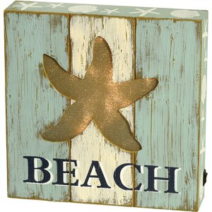 Wood Beach LED Tabletop Art