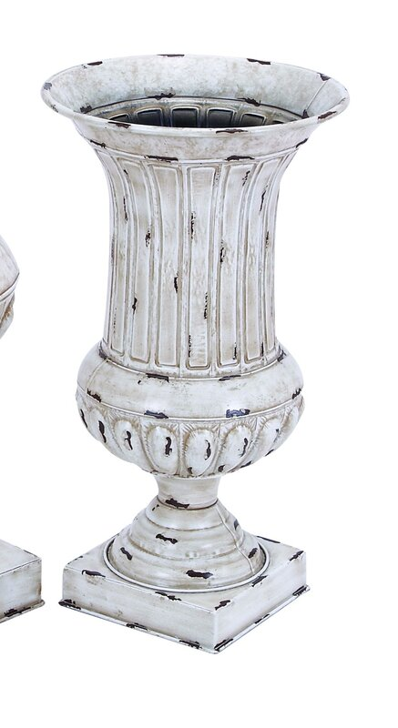 Metal 2 Piece Vase Set