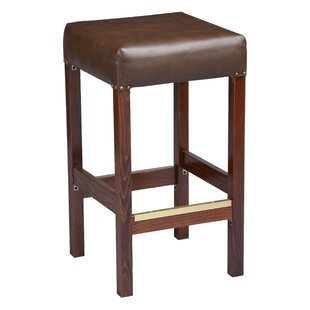 Beechwood Square Backless Fully Upholstered Seat 30 Bar Stool