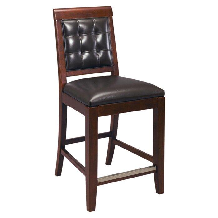 Latitude Run Sammi 25 Upholstered Leather Bar Stool Wayfair