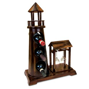 Oisin Wooden 3 Bottle Tabletop Wine Bottle Rack