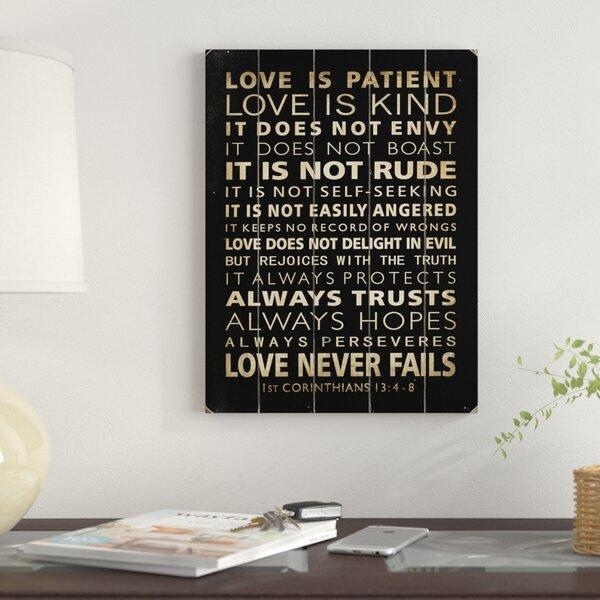 Love Is Patient Wall Art | Wayfair