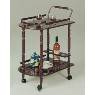 Offerman Wood Rolling Buffet Bar Cart