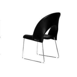 Mory Genuine Leather Upholstered Dining Chair (Set of 2) by Whiteline Imports